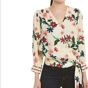 Laundry By Shelli Segal Floral Cropped Top…